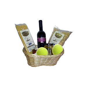 cesto regalo gioco tennis