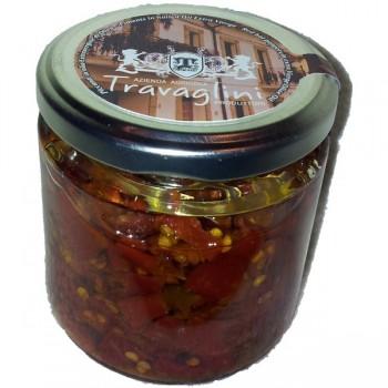 """Piccanti """"Lazzaretti"""" in olio e.v. di Oliva 220 gr"""