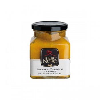 Marmellata di arance tarocco e carote con miele di zagara